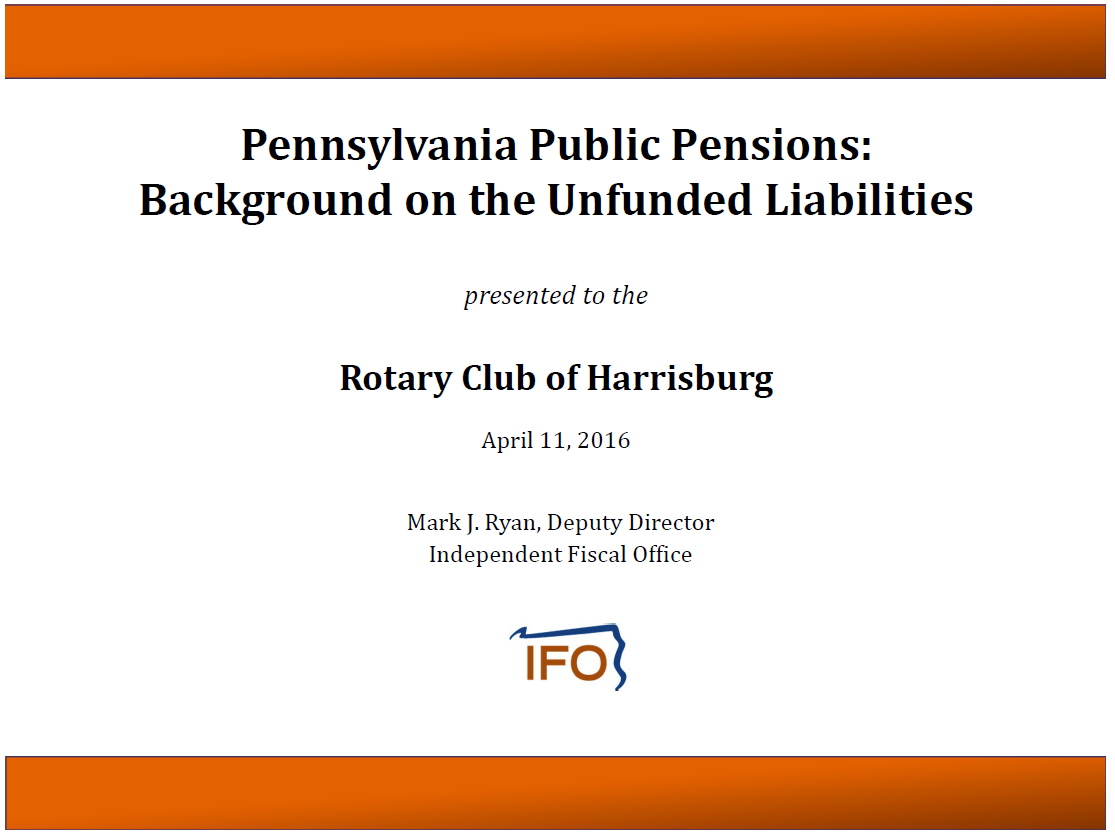 unfunded public pensions Synopsis: we examine whether unfunded public pension liabilities are associated with citizen oversight through legislative and electoral means in local governments.